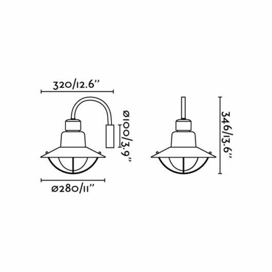 Newport Verde Lampa de perete 1 X E27 60W 2