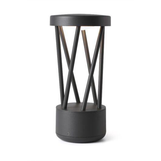 Twist Led Dark Gri Post Lamp 10W 3000K 1