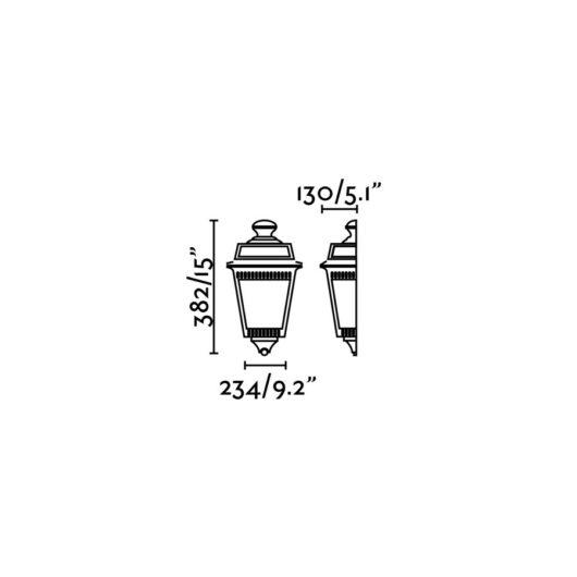 Argot 1/2 Rust Lampa de perete 1 X E27 100W 2