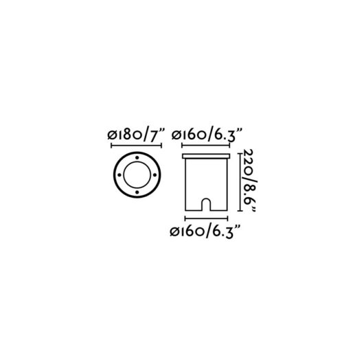 Tecno-1 Matt Nickel Recessed 1 X E27 60W 2