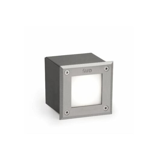 Led-18 Inox Square Recessed Lamp 6000K High Power 1