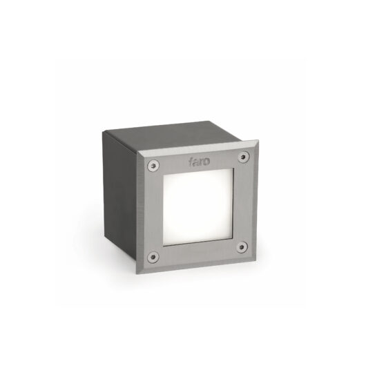 Led-18 Inox Square Recessed Lamp 3000K High Power 1