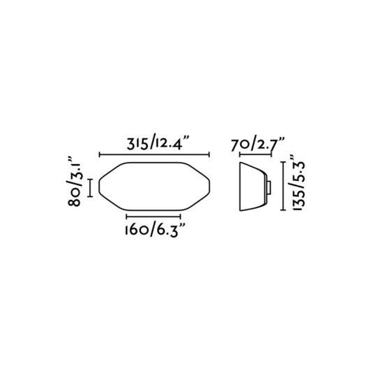Future Lampa de perete Dark Gri 1 X E27 20W 5000K 2