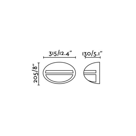 Terra-G Alb Lampa de perete 1 X E27 100W 1
