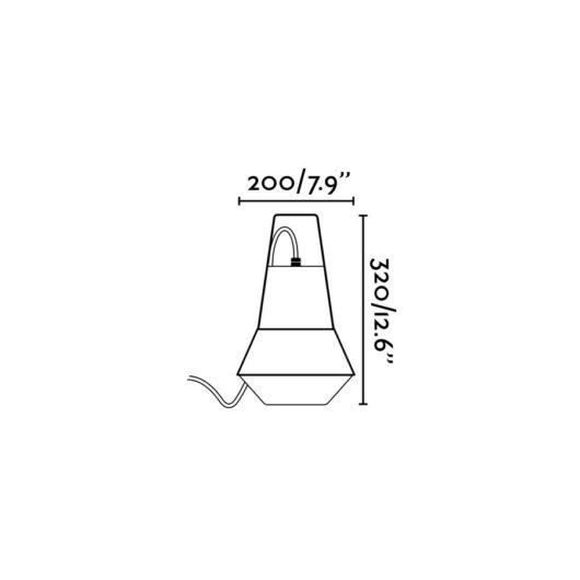 Cat Alb lampa portabila 1Xe27 20W 2