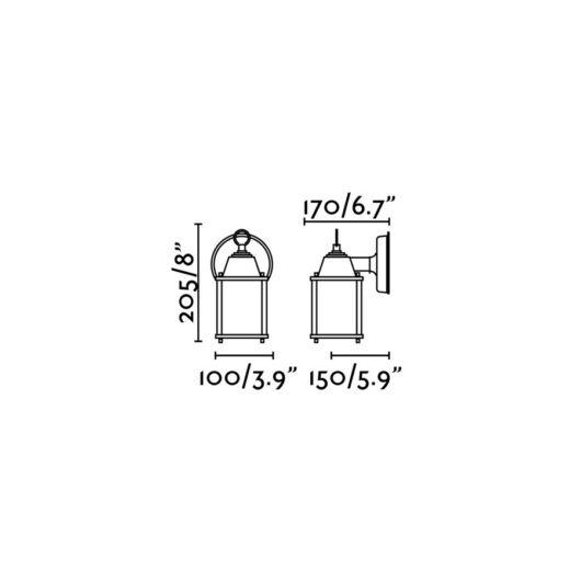Dado-P maro Lampa de perete1 X E27 15W 2