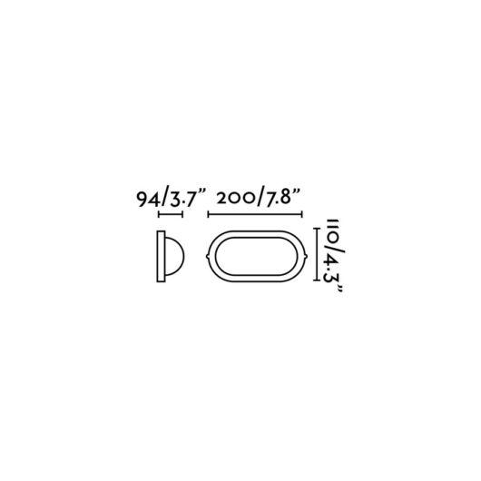 Derby-P Negru Lampa de perete 1 X E27 60W 1