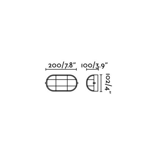 Estay-P Negru Lampa de perete 1 X E27 60W 1