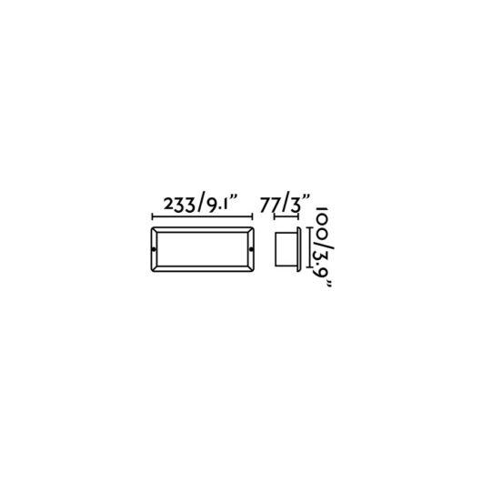 Stripe-2 Recessed Alb 5W 3000K 2