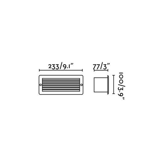 Stripe-1 Recessed Alb 5W 3000K 2