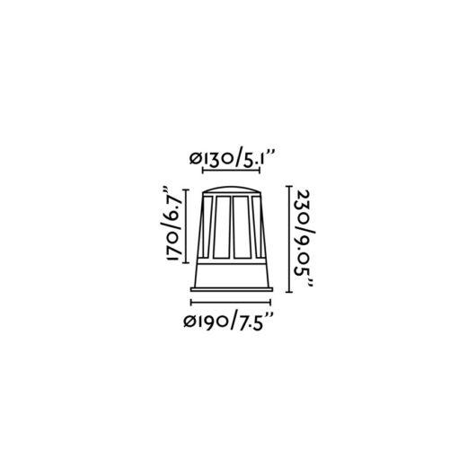 Surat Dark Gri Beacon 1 X E27 20W 2