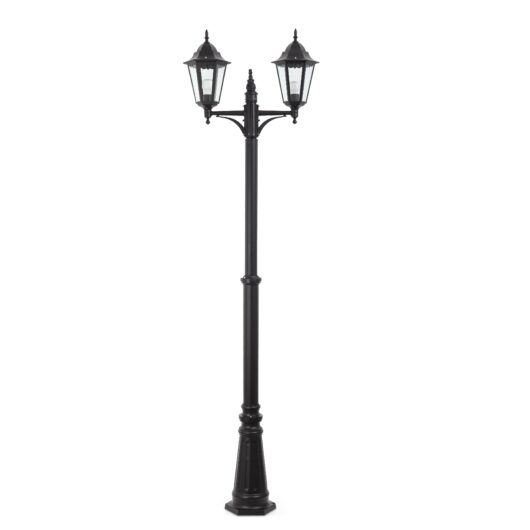 Paris Negru Pole Lamp 2 X E27 20W 1