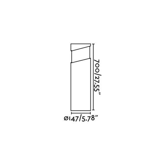 Block Pole Lamp Concrete 1Xe27 2
