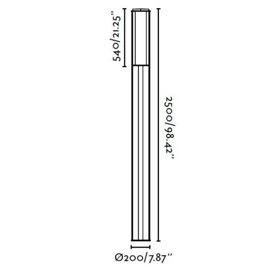 Cross-1 Dark Gri Pole Lamp 1Xpl 2G11 55W 5000K 2