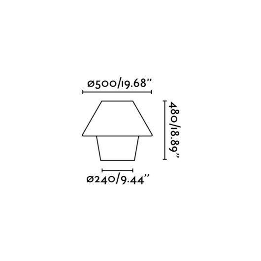 Versus-E Alb veioza 1 X E27 15W 2