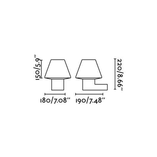 Structure Lampa de perete Mistu/Muffin Dark Gri 1 X E27 2
