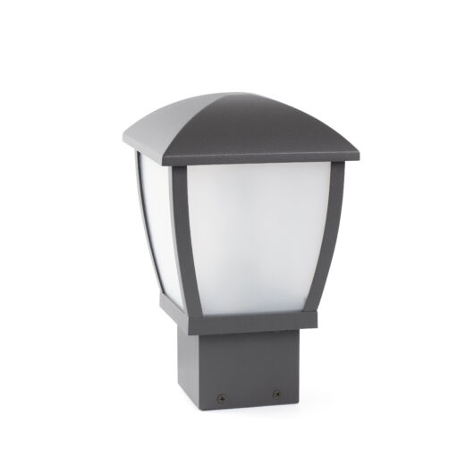 Mini Wilma Dark Gri Post Lamp 1 X E27 11W 1