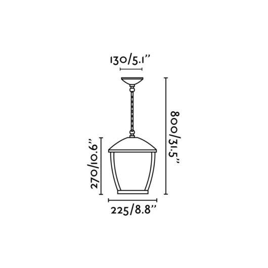 Wilma Dark Gri candelabru 1 X E27 100W 2