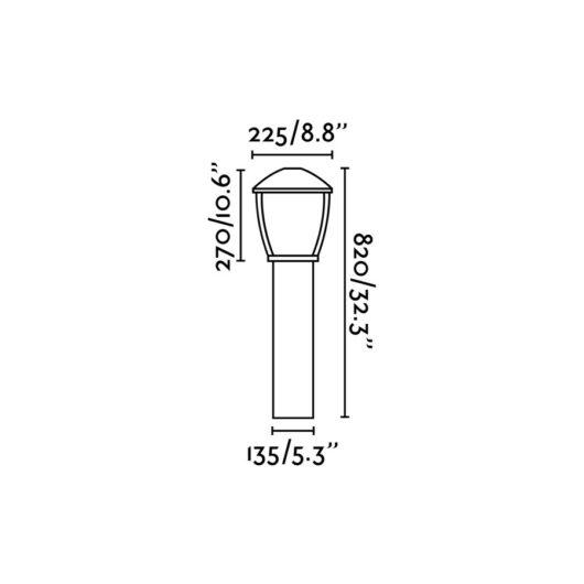 Wilma Dark Gri Beacon 1 X E27 100W 2