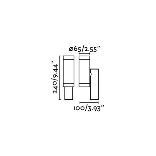 Steps Alb Lampa de perete GU10 35W 2