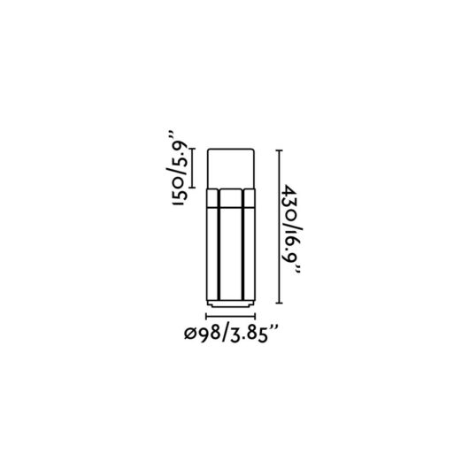 Tram Dark Gri Beacon Lamp H 43Cm 1Xe27 20W 2