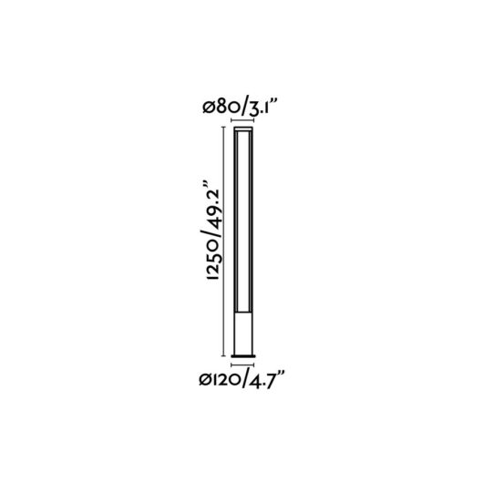Grop-2 Led Dark Gri Beacon Lamp H125Cm 2