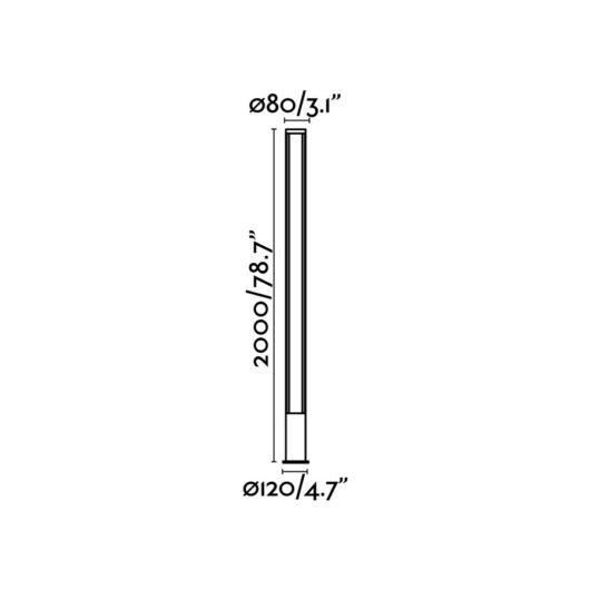 Grop-3 Led Dark Gri Pole Lamp H200Cm 2